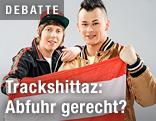 Trackshittaz mit österreichischer Fahne
