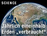 Erde aus dem Weltall aufgenommen
