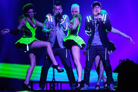 Trackshittaz bei der Performace im Halbfinale des Song Contest