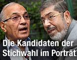 Mohammed Morsi und Ahmed Shafik