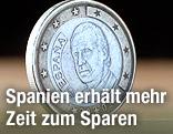 Rückseite einer spanischen Ein-Euro-Münze