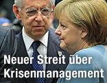 Italiens Premier Mario Monti und Deutschlands Bundeskanzlerin Angela Merkel