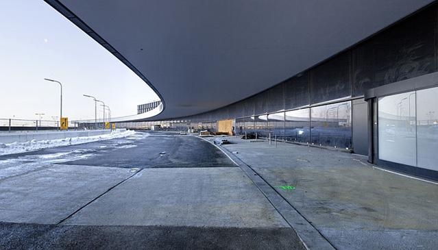Skylink Terminalerweiterung, Flughafen Wien AG, Baustelle am 28.01.2010