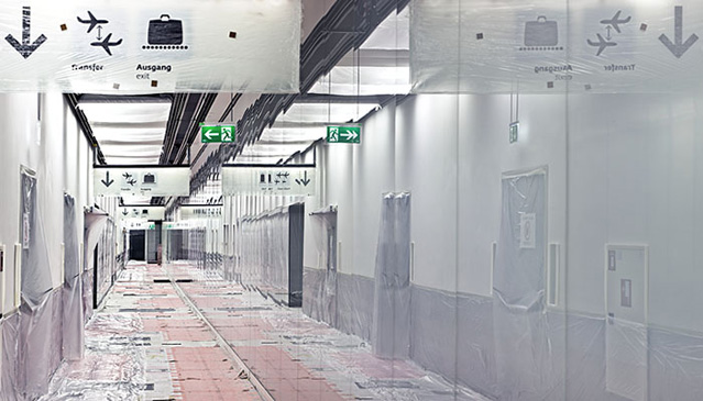 Skylink Baustelle, Flughafen Wien AG, Pier Sued Ausbau am 04.07.2011