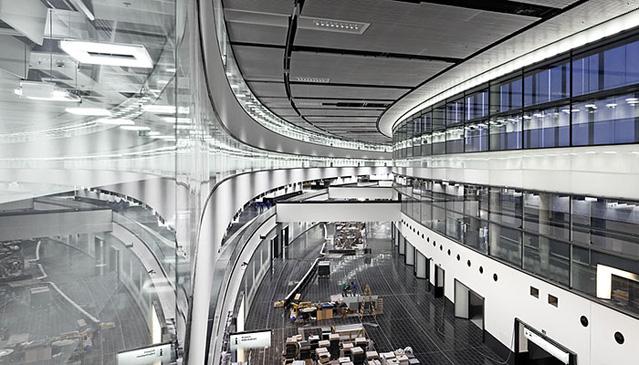 Skylink Baustelle, Flughafen Wien AG, Ankunftshalle am 29.11.2011