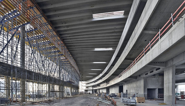 Skylink Baustelle, Ankunftshalle, Flughafen Wien AG, 27.08.2006