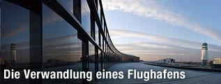 Vorplatz, Flughafen Wien AG, Skylink Fassade und Tower
