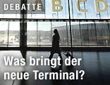 Gang am neuen Check-In-3-Terminal des Wiener Flughafens