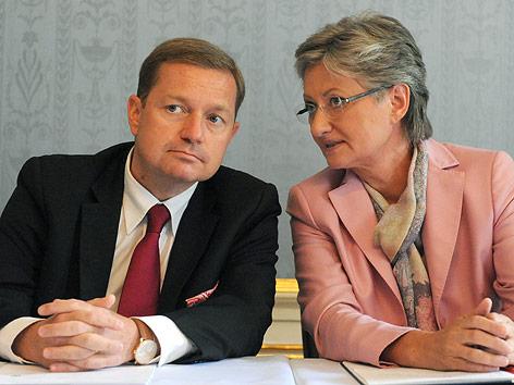 Unterrichtsministerin Claudia Schmied und Bildungssprechern Werner Amon