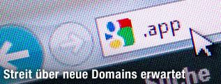 """Browserleiste mit den Zeichen """".app"""""""