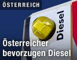 Detail einer Diesel-Zapfsäule