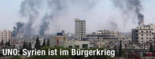 Rauchschwaden über Homs