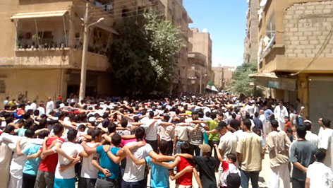 Protest in Deir as-Saur