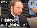 Breivik mit Verteidiger im Gerichtssaal