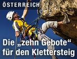 Kletternder Mann