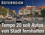 Auto auf der Straße in Leobersdorf