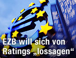 Euro-Logo vor der EZB-Zentrale in Frankfurt