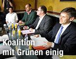 Werner Kogler, Diester Brosz, Josef Ostermayer sowie VP-Klubchef Karlheinz Kopf