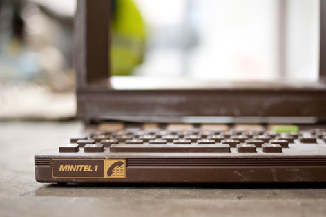 Tastatur eines Minitels