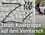 """Auf einer Wand steht """"Z 100 %"""" geschrieben"""