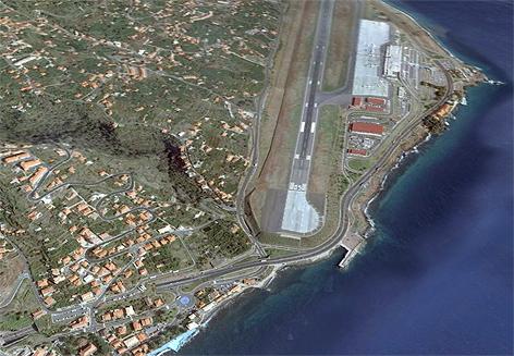 Flughafen in Madeira