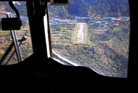 Landebahn in Nepal