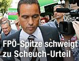 Der veruteilte FPK-Landesparteichef Uwe Scheuch nach dem Prozess