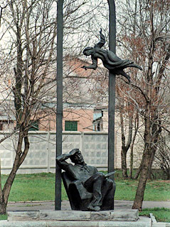 Statue des Malers Marc Chagall