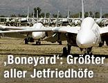 F-14 Tomcat Abfangjäger auf dem Aerospace Maintenance and Regeneration Center in Tucson