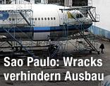 Flugzeug der brasilianischen Airline VASP auf dem Flughafen in Sao Paulo