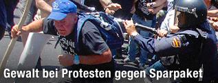 Ausschreitungen bei Demonstration