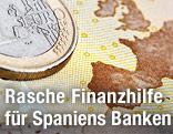 Euro-Schein und Euro-Münze