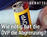 ÖVP-Werbefeuerzeug