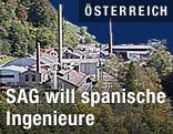 Gelände der Salzburger Aluminium AG (SAG) in Lend