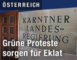 """Schild """"Kärntner Landesregierung"""""""