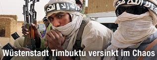 Bewaffnete Kämpfer der Ansar Dine Islamic Group