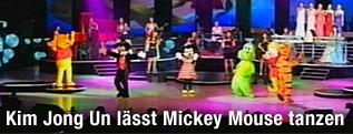 Tanzvorführung von Disney-Figuren für Nordkoreas Machthaber Kim Jong Un