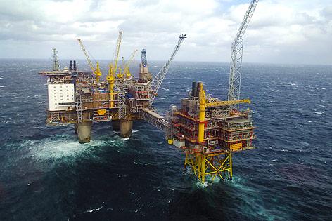 Oseberg Bohrplattform in der Nordsee