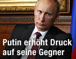Wladimir Putin schaut grimmig