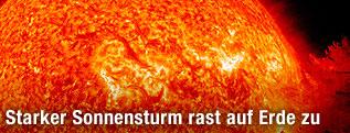 Explosionen an der Oberfläche der Sonne