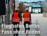 Arbeiter am Flughafen Berlin