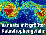 Bild eines Wettersatelliten