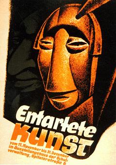 """Plakat der Ausstellung """"Entartete Kunst"""""""