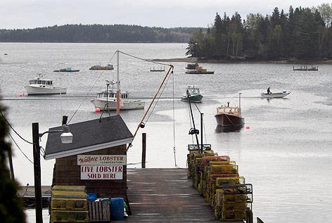 Fischerboote in Maine