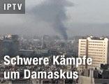 Rauchschwaden über dem Zentrum von Damaskus