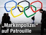 Graffitti mit Olympischen Ringen