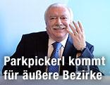 Verkehrsstadträtin Maria Vassilakou (Grüne) und Bürgermeister Michael Häupl (SPÖ)