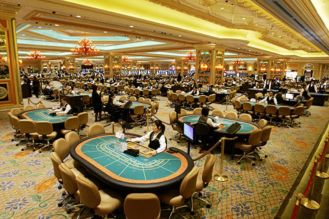 Spieltische im Venetian Macao Casino