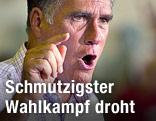 Republikanischer Präsidentschaftskandidat Romney hält eine Rede