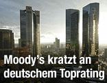 Blick auf Frankfurts Bankenviertel